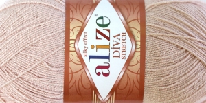 Diva Silk Effect Strech Yarn; Colour 382 (Light Beige), Alize