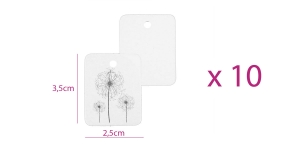 Hinnasildid, tootelipikud 2,5 x 3,5 cm, 10 tk, valged, KL1708