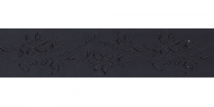 Jacquard satin ribbon, Art.38968, color No. Black