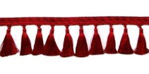 Soliidne kaunistuspael tuttidega, üldlaiusega 12cm, värv punane