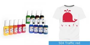 Spreivärvid kanga värvimiseks, Fabric Paint Spray, 50 ml, Vielo, Värv: punane, #504 Traffic Red