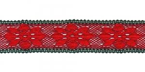 Peenest niidist jõuluvärviline vahepits D034-56, Värv Punane rohelisega