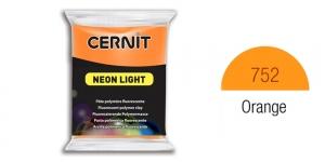 Polymer clay Fluorescent, Neon, Cernit, 56g, Orange 752