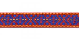 Rahvusliku ornamendiga/ Lace 3cm; Punase-, sinisekirju 556