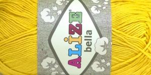 Puuvillane lõng Bella; Värv 488 (Puhas kollane) / Alize
