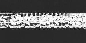 Puuvillane servapits, 3087-01 laiusega 3cm, värv valge