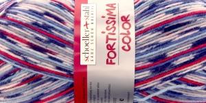 Mustriline sokilõng Fortissima Color, värv 388 sinised, punased toonid