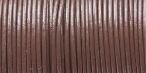 Nahkanyöri, aitoa nahkaa, väri: suklaanruskea, ø 2 mm, CF06.203