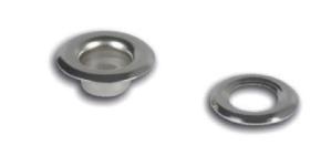 Öösikomplekt Lord mõõtudega 4mm auk x 5 x 7,5mm Värv- nikkel / Nickel plated eyelets with 4mm hole / 20 tk/ps/set
