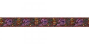 Lillekimpudega dekoratiivpael, laiusega 15 mm, värv 1N ROSSO, Art. 22109