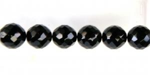 Ümar tahuline klaaspärl, Tšehhi, 18mm, Tšehhi, must, LJ2