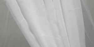 300cm, Valge, lehemustriga polüesterkangas Art. 955-300-15