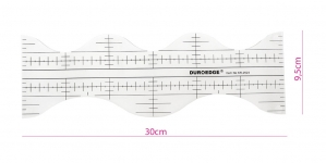 Clear View quilting foot ruler, 9,5 cm × 30 cm Duroedge KR-2523