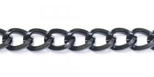 Alumiiniumkett Must 20 x 14,5 x 3 mm, MA50