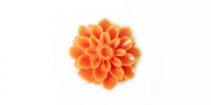 AR9A 15mm Oranž sünteetilisest korallist kamee