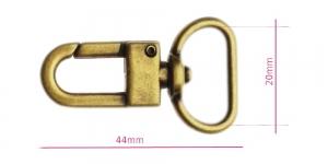 Karabiinhaak paela laius 20 mm, SH1042-AB, pinnatud: antiikpronks
