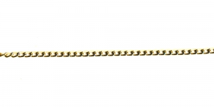 Tumedam kuldne alumiiniumkett, 6 x 3,5 x 1 mm, MA4