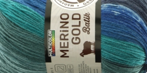 Villasisaldusega lõng Merino Gold Batik Design, värv 837 (Sinakad-rohekad toonid), Madame Tricote