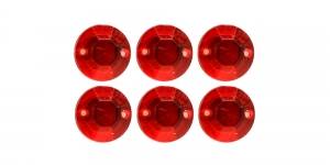 WM7 10mm Punane tahuline õmmeldav kristall 6tk