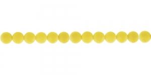 Kollane Sametkattega helmes, 6mm, CC13
