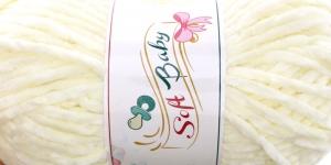 Sametlõng Soft Baby, Madame Tricote, Värv 502 Õrn helekollane