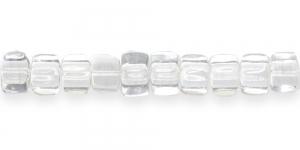 LK82 8mm Värvitu läbipaistev kandiline klaashelmes