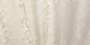 619736/0/6 Kreemjasvalge, lillemustriga kunstsiidist kangas