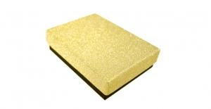Kuldne, sädelev kinkekarp, 10x7x2,7cm