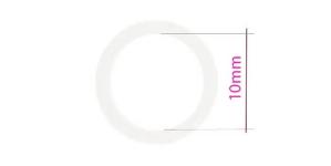 Кольцо бюстгальтер, изготовлена из металла, ø10мм, белый, UB15