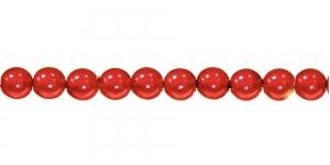 KK364 Ümarad pärlmutter klaaspärlid, Jablonex Tšehhi, 6mm Punane
