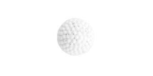 SV203BF115 8 mm, suurus: 14L Valge sädelev lillekujuline kannaga plastiknööp