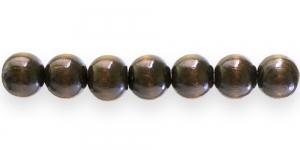 ID2 16mm Tumepruun naturaalne ümar lakitud puithelmes