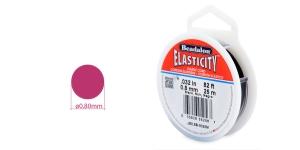 Läbipaistev tugev ümarkumm Elasticity, ø0,8 mm, 25 m, must, Beadalon JE0.8B-0025M