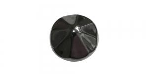 Mustjas, metallist nööp, 23mm, 36L, SFF218