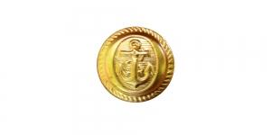SE8 15mm Kuldne, matt, kannaga, mereteemaline nööp