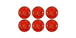 WM14 12mm Punane, ümar dekoraatiivkivi, 6tk
