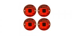 WM6A 18mm Punane läbipaistev dekoraatiivkivi, 4tk