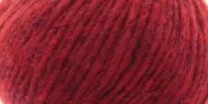 Alpakavilla sisaldav lõng Brushed Fleece, Rowan, värv nr. 260, tumedam punane