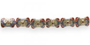 FA20 16x12x7mm Lillakirju lapik, cloisonne metallhelmes
