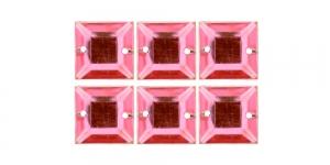 WH30 12mm Heleroosad õmmeldavad kristallid, 6tk