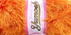 Karvane dekoratiivlõng Yumosh; Värv 960 (Oranž) / Madame Tricote