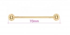 Kruvitava otsaga disainhaak, 70mm, nupp ø9,5mm, kuldne, HD293