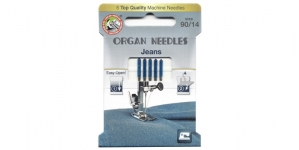 Jeans Needles for Home Sewing Machines, Organ ECO-Pack No.90