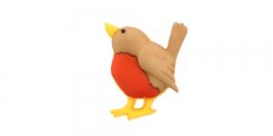 Linnukese kujuline, kannaga plastiknööp, 15x18mm/28L, SDD38 JJ_NA-11