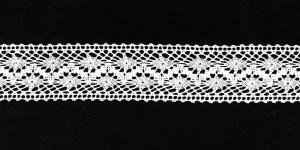 Puuvillane pits 3995-01 laiusega 3 cm, värv valge