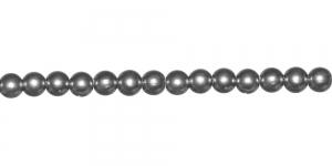 Hõbehall ümar plasthelmes, 4mm, BL33