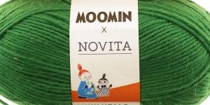 Villasisaldusega sokilõng Muumitalo, Novita, värv 381, Nuuskmõmmiku roheline