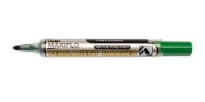 Pentel Maxiflo Permanent Marker, fine bullet point, 1,5 mm, green, Pentel NLF50-D