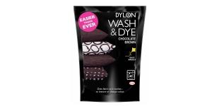 Pesumasinavärv, sisaldab soola, DYLON Wash & Dye, 350 g, Värv: pruun, Chocolate Brown #04