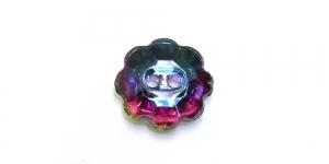 XE1 10mm Vikerkaarevärviline, läbipaistev, lillekujuline akrüülnööp